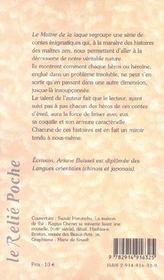 Maitre de la laque (le) - 4ème de couverture - Format classique