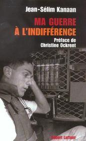 Ma guerre a l'indifference - Intérieur - Format classique