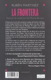 La Frontera ; L'Odyssee D'Une Famille Mexicaine - 4ème de couverture - Format classique