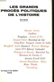 Les Grands Proces Politiques De L'Histoire. - Couverture - Format classique