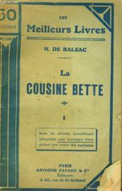 La Cousine Bette. Tome 1. Collection : Les Meilleurs Livres N° 133. - Couverture - Format classique