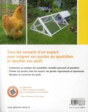 Quelques poules dans mon jardin ; comment les choisir et bien s'en occuper - 4ème de couverture - Format classique