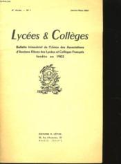 Lycees Et Colleges - 5eme Annee - N° 1 - Couverture - Format classique