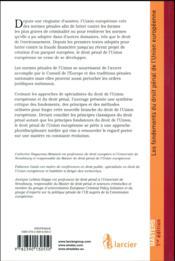Droit pénal de l'Union européenne ; fondements, principes et méthode - 4ème de couverture - Format classique