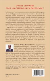 Quelle jeunesse pour un Cameroun en émergence ? - 4ème de couverture - Format classique