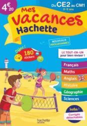 Mes vacances Hachette ; du CE2 au CM1 - Couverture - Format classique