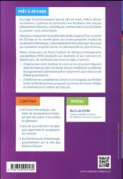 Allemand ; vocabulaire ; B2/C1 ; classes prépas, licence - 4ème de couverture - Format classique