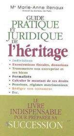 Guide pratique juridique de l heritage - Couverture - Format classique