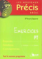 Sciences physiques; exercices ; pt - Intérieur - Format classique