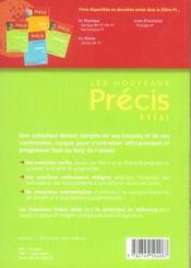 Sciences physiques; exercices ; pt - 4ème de couverture - Format classique