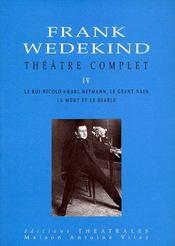 Theatre complet t.4 - Couverture - Format classique