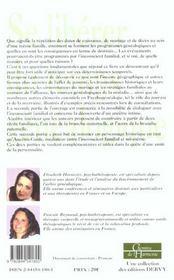 Se Liberer Du Temps Genealogique ; Comment Deprogrammer Son Destin Par La Psycho-Genealogie - 4ème de couverture - Format classique