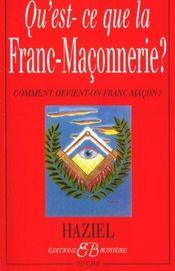 Qu'est-ce-que la franc-maçonnerie ? - Intérieur - Format classique