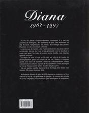Diana. l'adieu a la princesse - 4ème de couverture - Format classique