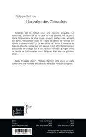 La valse des chevaliers - 4ème de couverture - Format classique