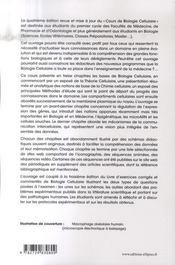 PACES ; cours de biologie cellulaire (4è edition) - 4ème de couverture - Format classique