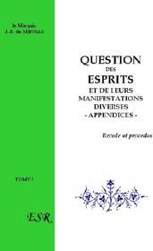 Question Des Esprits - Couverture - Format classique