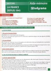 La france depuis 1945 - Intérieur - Format classique