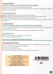 La france depuis 1945 - 4ème de couverture - Format classique