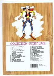 Lucky Luke t.29 ; des barbelés sur la prairie - 4ème de couverture - Format classique