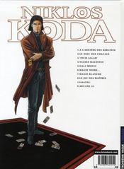 Niklos Koda ; intégrale t.1 et t.2 - 4ème de couverture - Format classique