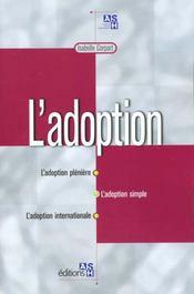 L'adoption ; une filiation affective - Intérieur - Format classique