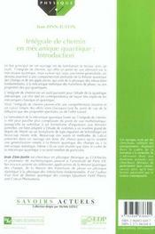 Integrale De Chemin En Mecanique Quantique - 4ème de couverture - Format classique
