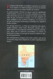 Inde du sud - 4ème de couverture - Format classique