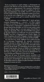 Dictionnaire des Messies juifs ; de l'Antiquité à nos jours - 4ème de couverture - Format classique