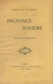 Gestes de chansons. Province bohême - Couverture - Format classique