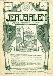 JERUSALEM, 28e ANNEE, N° 175, SEPT.-OCT. 1933, REVUE MENSUELLE ILLUSTREE - Couverture - Format classique