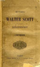 Oeuvres De Walter Scott, L'Antiquaire - Couverture - Format classique