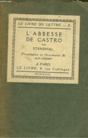 L'Abbesse De Castro. Chronique Italienne - Couverture - Format classique