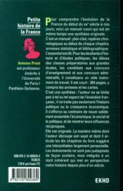 Petite histoire de la France ; de la Belle Epoque à nos jours (8e édition) - 4ème de couverture - Format classique