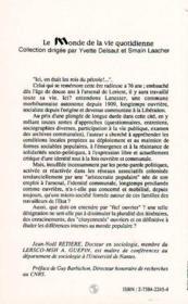 Identites Ouvrieres - 4ème de couverture - Format classique