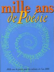 Mille ans de poesie - Intérieur - Format classique