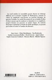 The tragedy of coriolanus - 4ème de couverture - Format classique