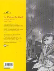 Agatha Christie t.7 ; le crime du golf - 4ème de couverture - Format classique