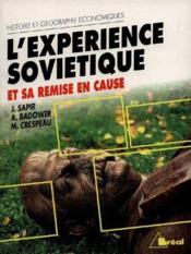 L'experience sovietique et sa remise en cause - Couverture - Format classique