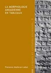 La morphologie akkadienne en tableaux - Intérieur - Format classique