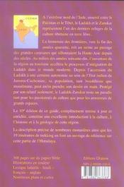 Ladakh-Zanskar (10e édition) - 4ème de couverture - Format classique