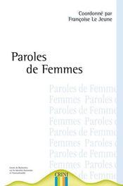 Paroles de femmes, histoires de femmes - Intérieur - Format classique