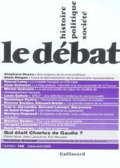 Revue Le Débat N.134 ; mars-avril 2005 - Intérieur - Format classique