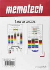 Memotech ; Electrotechnique - 4ème de couverture - Format classique