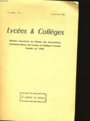 Lycees Et Colleges -9 Eme Annee - N° 1 - Couverture - Format classique