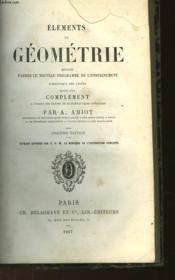 Elements De Geometrie - Couverture - Format classique