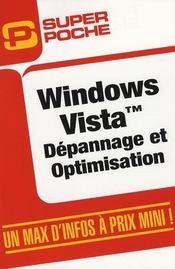 Windows Vista ; depannage et optimisation - Intérieur - Format classique
