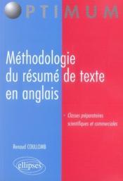 Méthodologie du résumé de texte en anglais - Couverture - Format classique