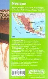 Geoguide ; Mexique (Edition 2007) - 4ème de couverture - Format classique