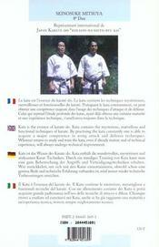 Karate-Do Kata - 4ème de couverture - Format classique